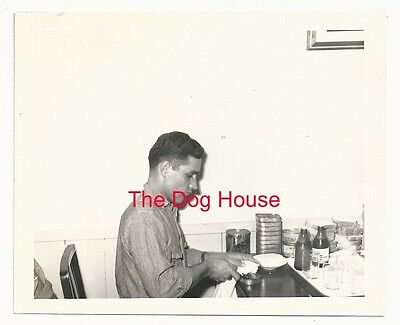 "1930's Original 5"" x 4 1/8"" Photograph of a Man Drinking Pabst Blue Ribbon"