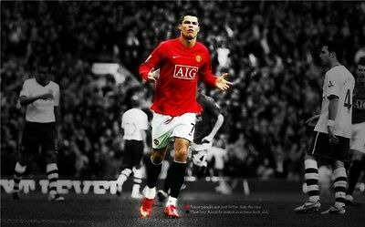 Cristiano Ronaldo CR7 Football Star Art Wall Poster 40x24 inch CR42