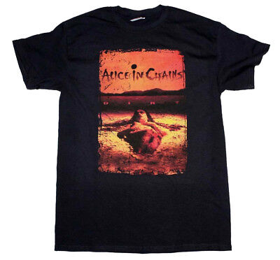 ALICE IN CHAINS Dirt Album Layne Staley Jerry Cantrell T-Shirt Authentic S-2XL
