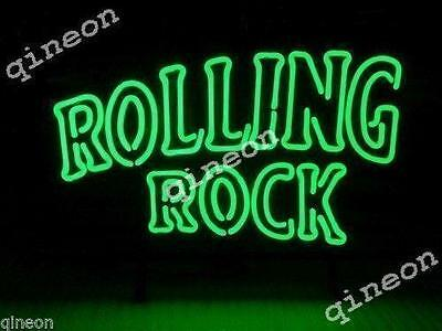 17X14 ROLLING ROCK BEER LAGER BEER Handcraft Real Neon Sign Bar Light Fast Ship