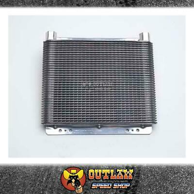 B&m Transmission Oil Cooler Polished Large - Bm70272