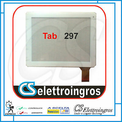 Vetro Touch Screen bianco 9,7'  Capacitivo per Audiola Tab 297 3G
