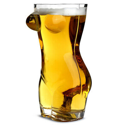 Sexy Torso Beer Glass 2.75 Pint - Gift Boxed Adult Novelty Beer Glass Gifts