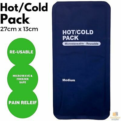 1x HOT COLD PACK First Aid Reusable Ice Heat Gel Packs Microwaveable Relief New