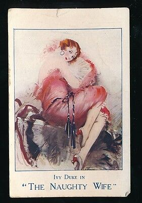 Gloucestershire BRISTOL Theatre Naughty Wife poster Advert 1926 PPC ... FAULTS