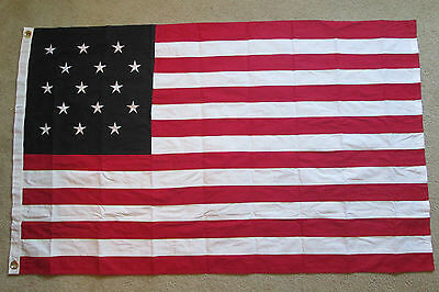 COTTON, War of 1812, 15 Star American Flag of Fort McHenry. Star Spangled Banner