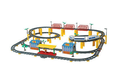 Electric Railway Train Set For Kids Rolling Rail RoadWay Toy Deluxe Scale 167pcs