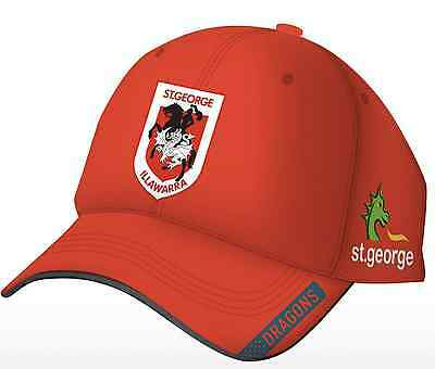 St George Illawarra Dragons Media Cap Red One Size Fits Most NRL ISC SALE 6