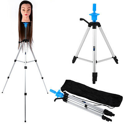 "55""  Adjustable Tripod Stand Salon Hair Mannequin Training Head Hold + Carry Bag"