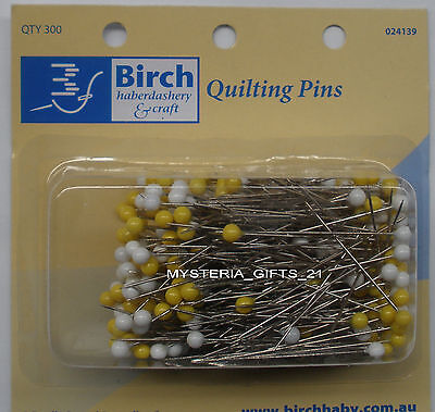 Pins Yellow And White Pack Of 300 Pins*quilting