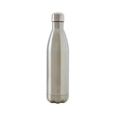 D.Line Oasis Stainless Steel Double Wall Insulated Water Bottle 500ml Silver