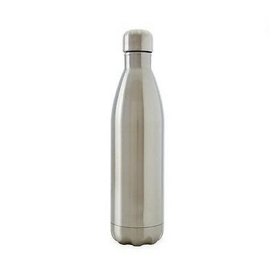 D.Line Oasis Stainless Steel Double Wall Insulated Water Bottle 750ml Silver