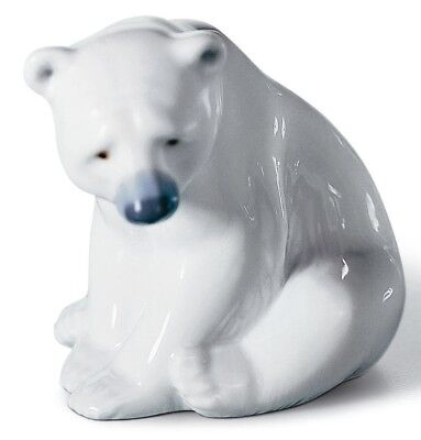 Lladro Porcelain Seated Polar Bear Figurine Ornament 01001209 New and In Stock