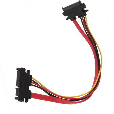 Male to Female 7+15 Pin Serial ATA SATA Data power combo extension Cable SN