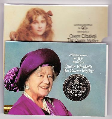 1990 90th BIRTHDAY/QUEEN MOTHER UNCIRCULATED £5 CROWN PACK