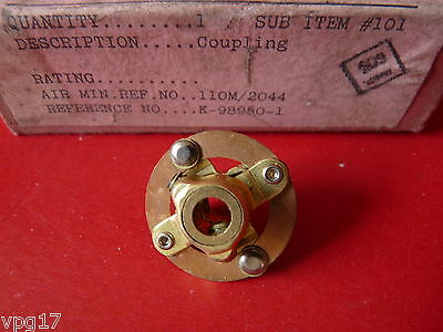 "Ar88  Ar88D Brass Felxible Coupling 1/4"" Shaft  K98950-1  Nos"