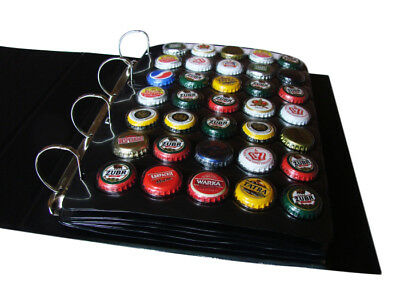 A4 BEER CHAMPAGNE BOTTLE CAPS GRANDE ALBUM 5 x 35 POCKET SLEEVES