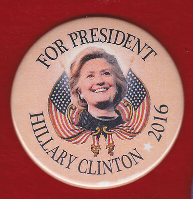Colorful Hillary Clinton Rally Pin 2016 Campaign