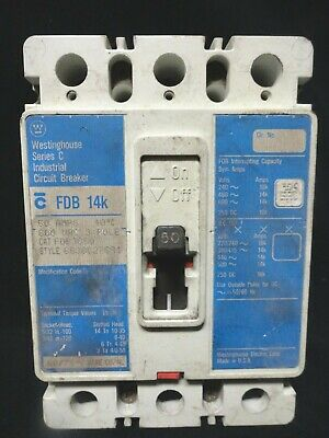 WESTINGHOUSE ~ Circuit Breaker ~ FDB3050 ~ 30 Amp, 600 Vac, 3 Pole ~ New in Box