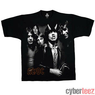 AC/DC Highway To Hell Group Photo All Over T-Shirt New Authentic Rock Tee S-2XL
