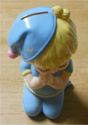 Blonde Boy w/Blue PJ's Coin Bank (Praying) ADORABLE!