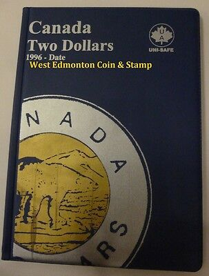 Canadian Toonie 2 Dollar Uni-Safe Blue Coin Folder Protector - 4 Pages 1996-Date