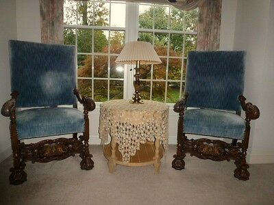 Pair 19th Century Mahogany Chairs