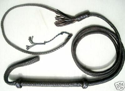 New Zorro Black Leather Bullwhip Target  Whip 10 ft long 12 Plait Catwoman #W40
