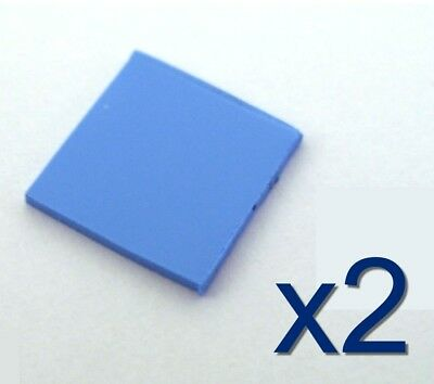 2x Pad thermique silicone pour GPU/Chipset 10x10x1mm Thermal Conductive Pad