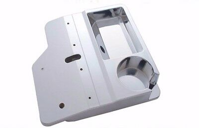 Console top center cup holder replacement chrome plastic for Kenworth T-600