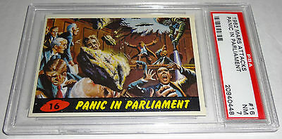1962 Mars Attacks Panic In Parliament # 16 NM PSA 7 Like BGS BVG Bubbles