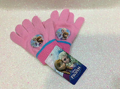 Frozen Disney Guanti Gloves Gants Rosa Pink