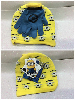 Minion Despicable Me Minions Set Cappello E Guanti Hat And Gloves
