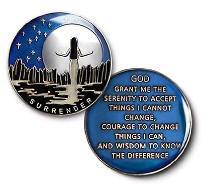 Womens Mens Surrender Specialty Recovery Coin Medallion Serenity Prayer AA NA