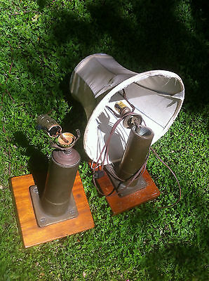 Marine Bronze Desk Lamps on Mahogany Base, Pair  USN 1942.  Restored 1975