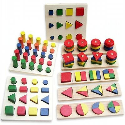 8pcs/set Montessori Early Educational Learning Teaching Wooden Toy For Children