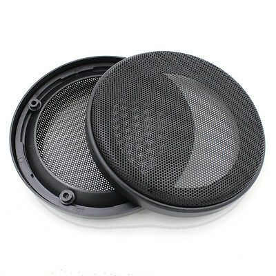 """2X 5.5"""" Speaker ABS Coaxial Steel Mesh Grille Cover Woofer Mask Protection 164MM"""