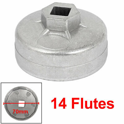 "65mm Dia 14 Flutes 1/2"" Drive Cap Style Oil Filter Wrench Removal Remover Tool"