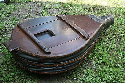 Vintage Very Large Primative Blacksmith Bellows Converted To Coffee Table