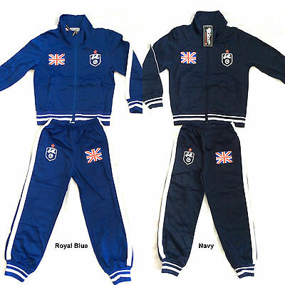 BOYS ENGLAND TRACKSUIT SET (Navy and Royal Blue) -Ages 4 years to 14 Years