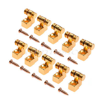 10 pcs Guitar Roller Style String Tree Retainer For Electric Guitar Gold Parts