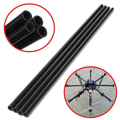 4pcs 3K Twill Long Roll Wrapped 12mm*10mm Carbon Fiber Tube for RC Drone Durable
