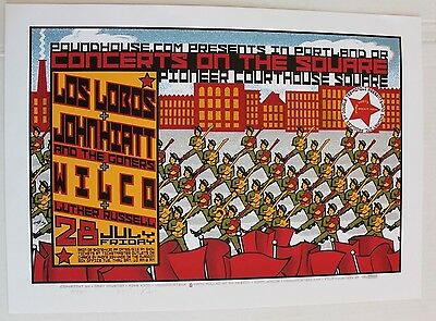 Wilco Los Lobos Portland 2000 Concert Poster signed #d 143/200 gary houston