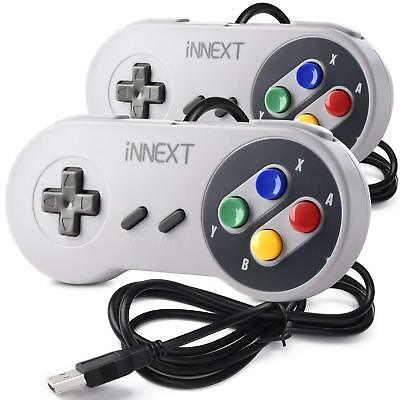 2 Pack iNNEXT SNES USB Super SNES Controller Gamepad for PC & MAC & Raspberry Pi