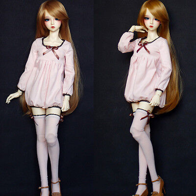 Hot 1/3 BJD SD16 SD10 LUTS DOLL Clothes Leisure Loose Pink Girl Pajamas/Suit 3pc