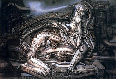 "Art Poster Hr Giger Li II Silk Cloth Poster 20 x13"" Decor 15"