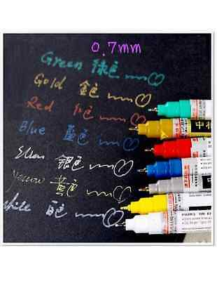 *AU SELLER* 0.7mm Fine Point Paint Waterproof Marker Pen for Scrapbook Deco Card