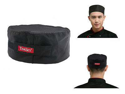 TINKSKY Top Skull Cap Professional Catering Chefs Hat with Adjustable Strap