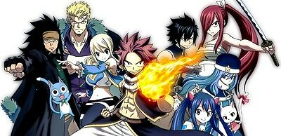 "Fairy Tail x Rave Animation Silk Cloth Poster 47 x 24"" Decor 06"