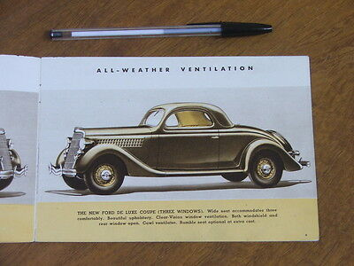 1935 Ford V8 range original small 16 page brochure